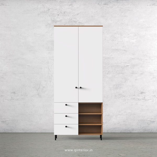 Lambent 2 Door Wardrobe in Oak and White Finish – DWRD036 C8