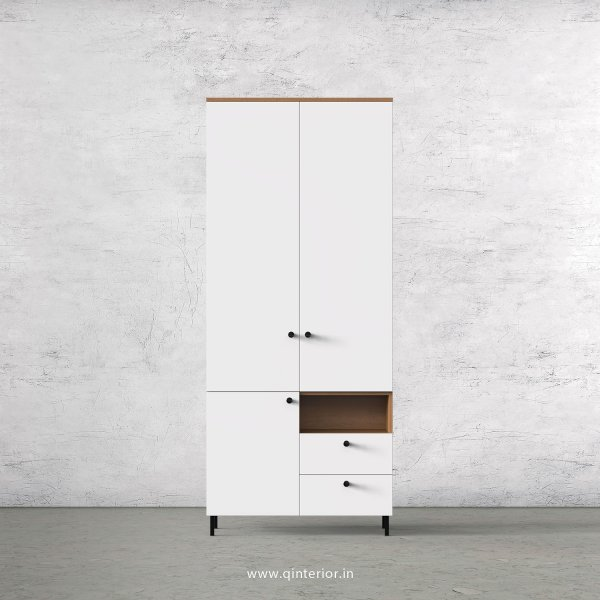 Lambent 2 Door Wardrobe in Oak and White Finish – DWRD011 C8