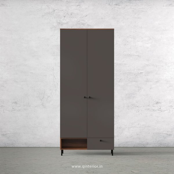 Lambent 2 Door Wardrobe in Teak and Slate Finish – DWRD023 C15