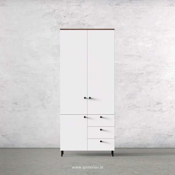 Lambent 2 Door Wardrobe in Teak and White Finish – DWRD010 C6