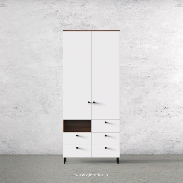 Lambent 2 Door Wardrobe in Teak and White Finish – DWRD035 C6