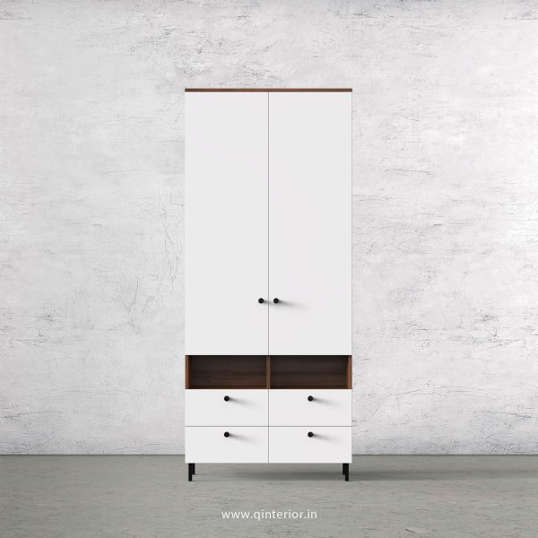 Lambent 2 Door Wardrobe in Teak and White Finish – DWRD008 C6