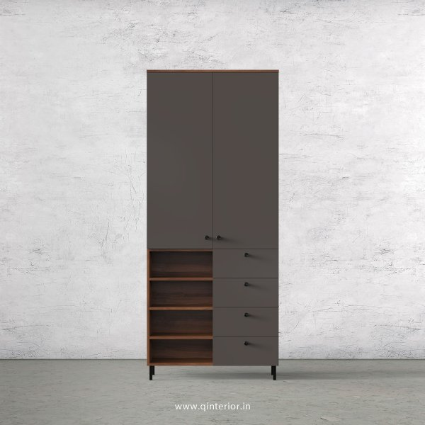 Lambent 2 Door Wardrobe in Teak and Slate Finish – DWRD046 C15