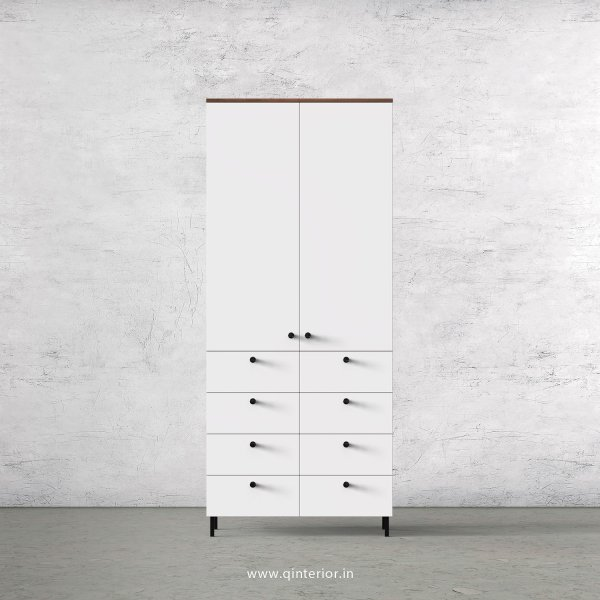 Lambent 2 Door Wardrobe in Teak and White Finish – DWRD012 C6