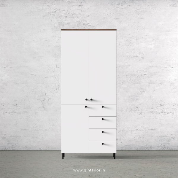 Lambent 2 Door Wardrobe in Teak and White Finish – DWRD015 C6