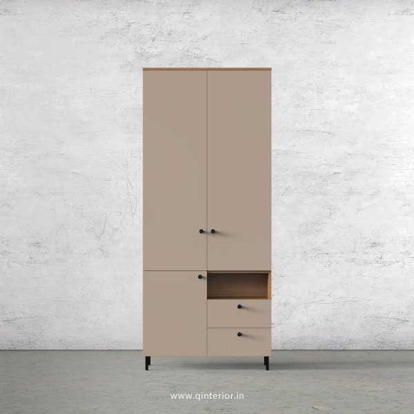 Lambent 2 Door Wardrobe in Oak and Cappuccino Finish – DWRD011 C84