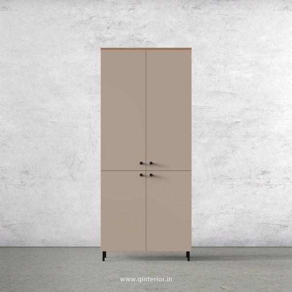 Lambent 2 Door Wardrobe in Oak and Cappuccino Finish – DWRD013 C84
