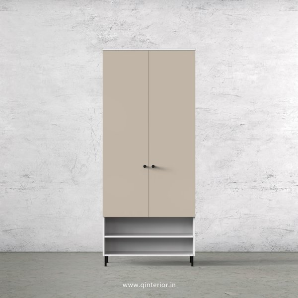 Lambent 2 Door Wardrobe in White and Irish Cream Finish – DWRD024 C88