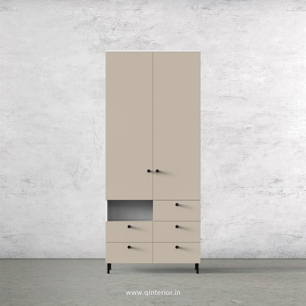 Lambent 2 Door Wardrobe in White and Irish Cream Finish – DWRD035 C88