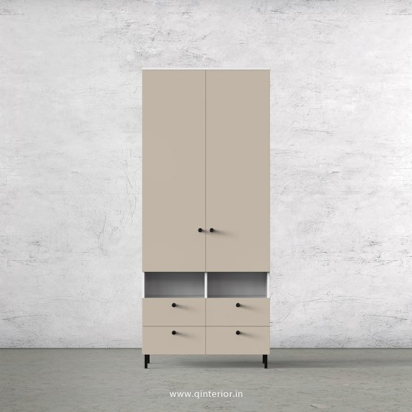 Lambent 2 Door Wardrobe in White and Irish Cream Finish – DWRD008 C88
