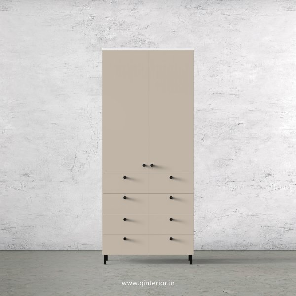 Lambent 2 Door Wardrobe in White and Irish Cream Finish – DWRD012 C88
