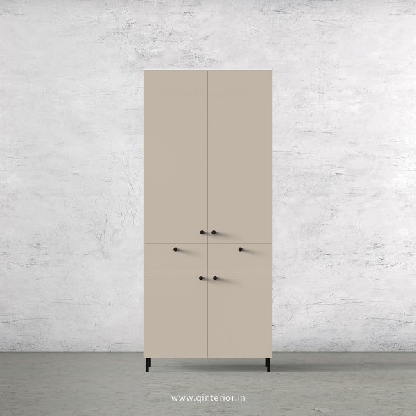 Lambent 2 Door Wardrobe in White and Irish Cream Finish – DWRD014 C88