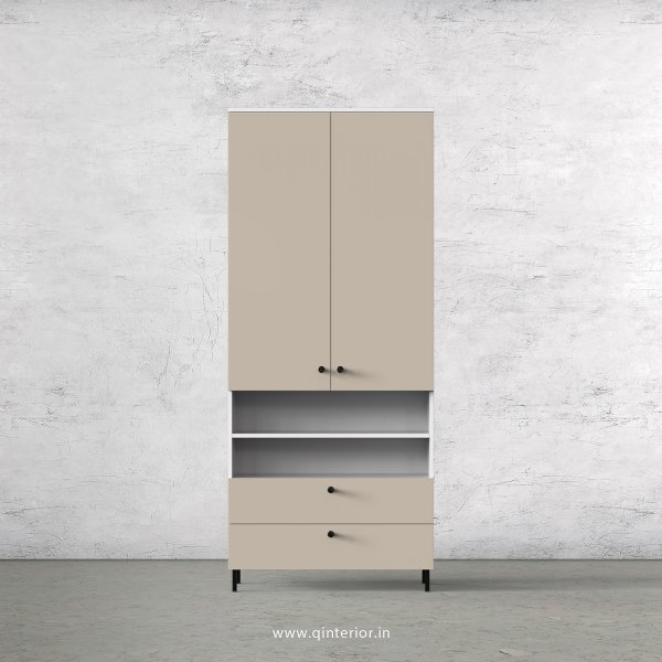 Lambent 2 Door Wardrobe in White and Irish Cream Finish – DWRD054 C88