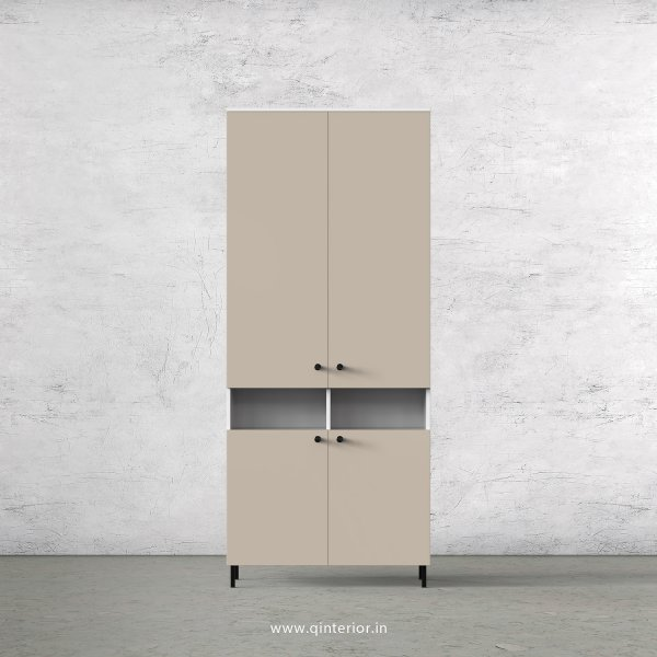 Lambent 2 Door Wardrobe in White and Irish Cream Finish – DWRD056 C88