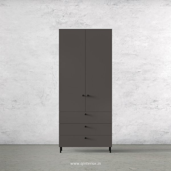 Lambent 2 Door Wardrobe in White and Slate Finish – DWRD033 C16