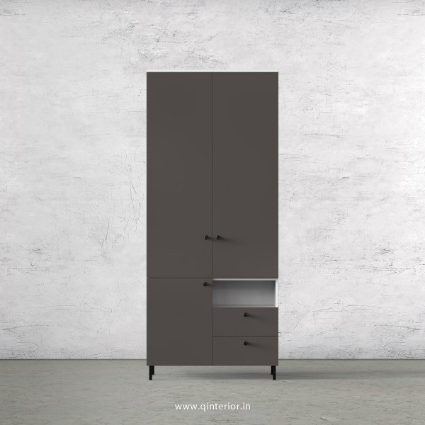Lambent 2 Door Wardrobe in White and Slate Finish – DWRD011 C16