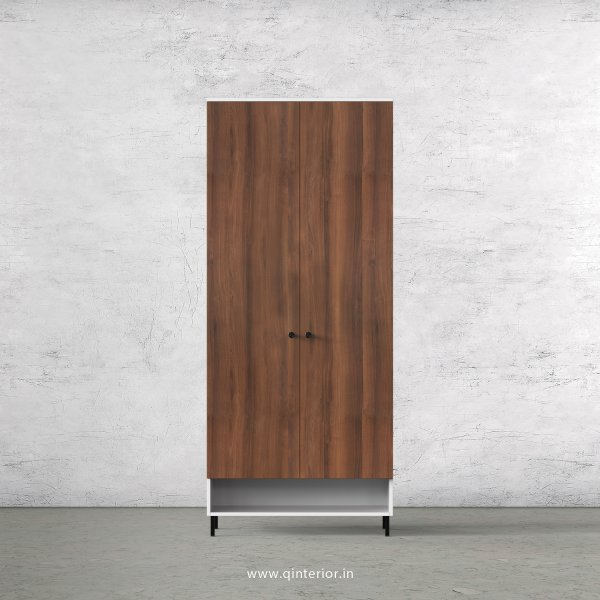 Lambent 2 Door Wardrobe in White and Teak Finish – DWRD019 C9