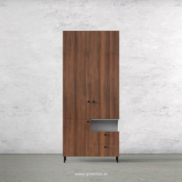Lambent 2 Door Wardrobe in White and Teak Finish – DWRD011 C9