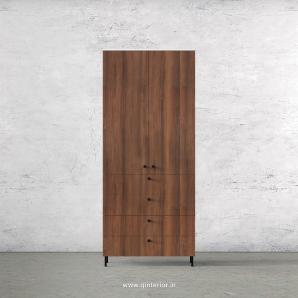 Lambent 2 Door Wardrobe in White and Teak Finish – DWRD066 C9