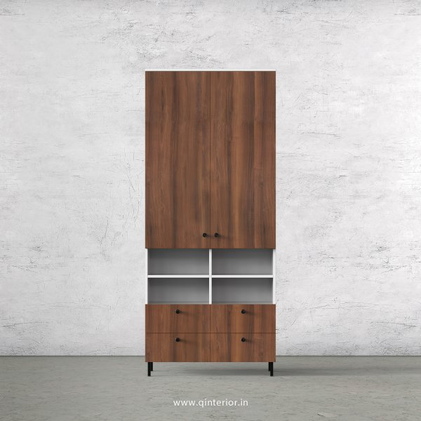 Lambent 2 Door Wardrobe in White and Teak Finish – DWRD049 C9