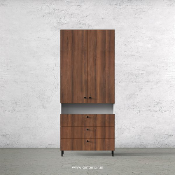 Lambent 2 Door Wardrobe in White and Teak Finish – DWRD053 C9