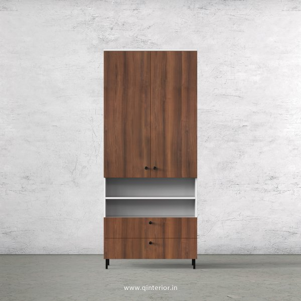 Lambent 2 Door Wardrobe in White and Teak Finish – DWRD054 C9