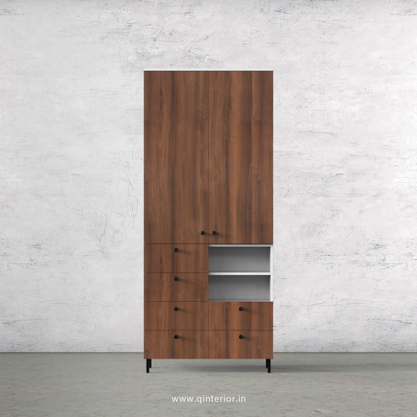 Lambent 2 Door Wardrobe in White and Teak Finish – DWRD064 C9