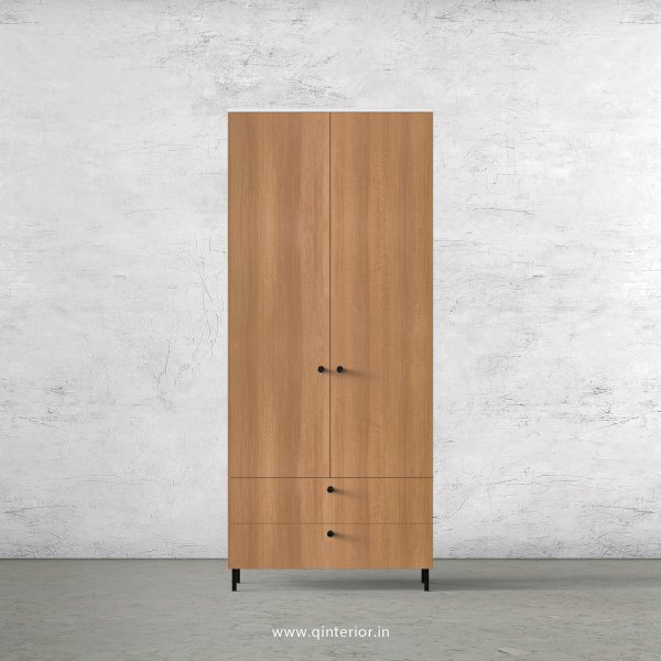 Lambent 2 Door Wardrobe in White and Oak Finish – DWRD026 C86