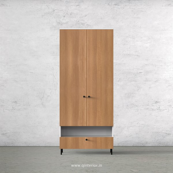 Lambent 2 Door Wardrobe in White and Oak Finish – DWRD027 C86