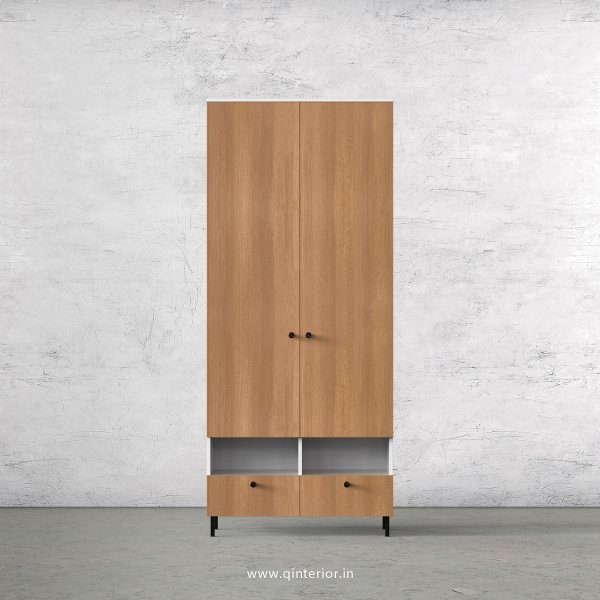 Lambent 2 Door Wardrobe in White and Oak Finish – DWRD005 C86