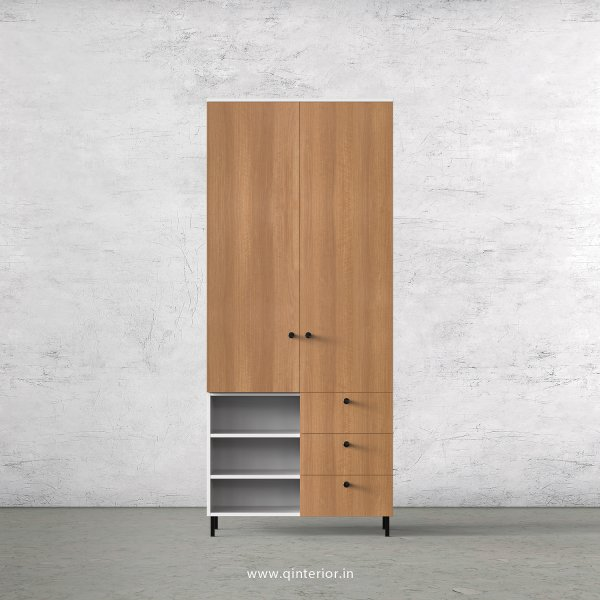 Lambent 2 Door Wardrobe in White and Oak Finish – DWRD037 C86