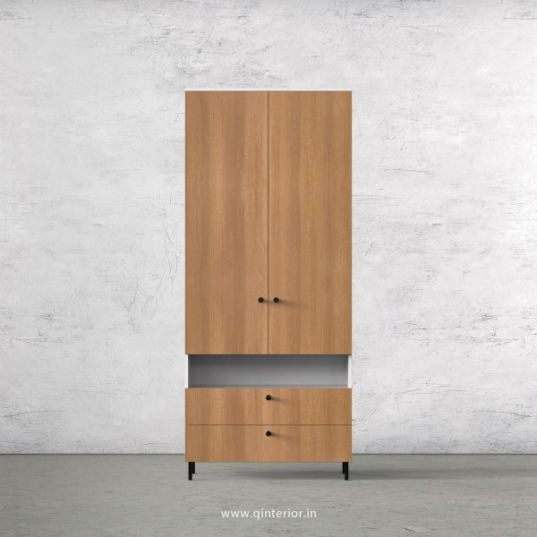 Lambent 2 Door Wardrobe in White and Oak Finish – DWRD041 C86