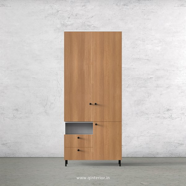 Lambent 2 Door Wardrobe in White and Oak Finish – DWRD042 C86