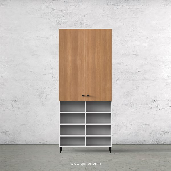 Lambent 2 Door Wardrobe in White and Oak Finish – DWRD044 C86