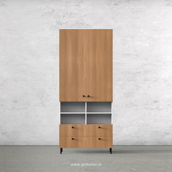 Lambent 2 Door Wardrobe in White and Oak Finish – DWRD049 C86