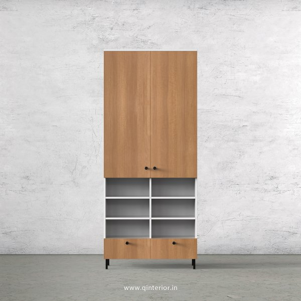 Lambent 2 Door Wardrobe in White and Oak Finish – DWRD050 C86