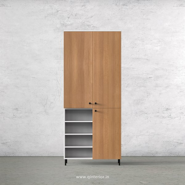 Lambent 2 Door Wardrobe in White and Oak Finish – DWRD060 C86