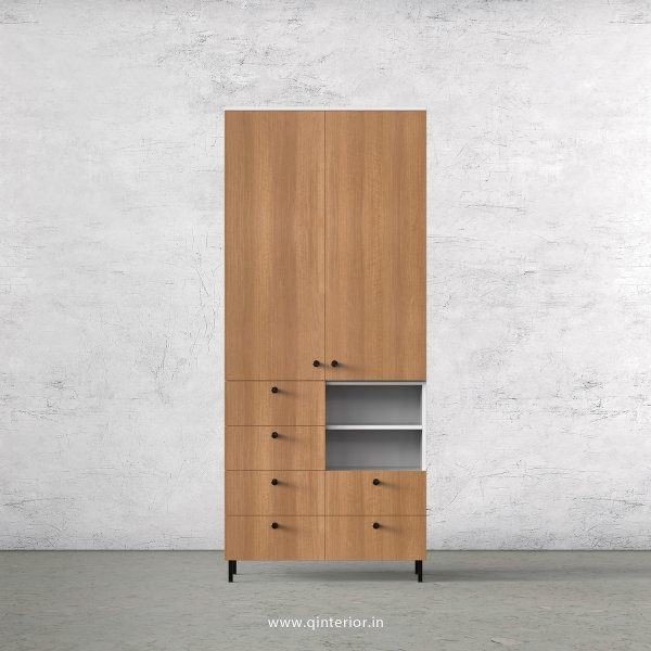 Lambent 2 Door Wardrobe in White and Oak Finish – DWRD064 C86