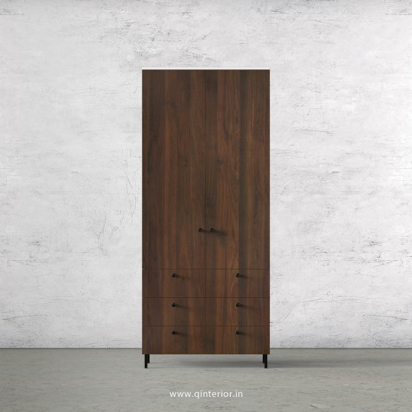 Lambent 2 Door Wardrobe in White and Walnut Finish – DWRD006 C67
