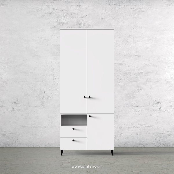 Stable 2 Door Wardrobe in White Finish – DWRD042 C4