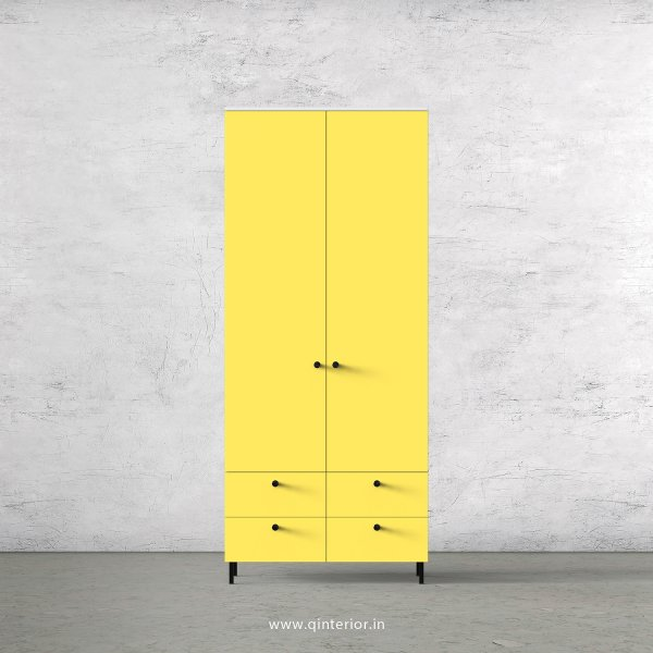 Lambent 2 Door Wardrobe in White and Marigold Finish – DWRD003 C89