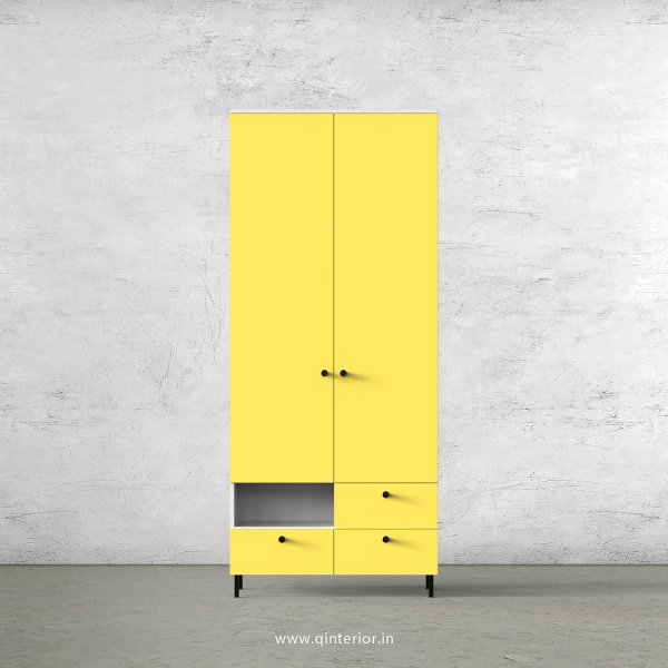 Lambent 2 Door Wardrobe in White and Marigold Finish – DWRD028 C89