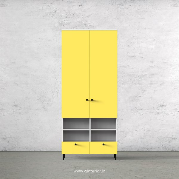 Lambent 2 Door Wardrobe in White and Marigold Finish – DWRD009 C89