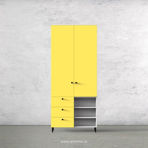 Lambent 2 Door Wardrobe in White and Marigold Finish – DWRD036 C89