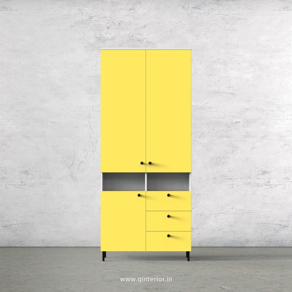 Lambent 2 Door Wardrobe in White and Marigold Finish – DWRD016 C89