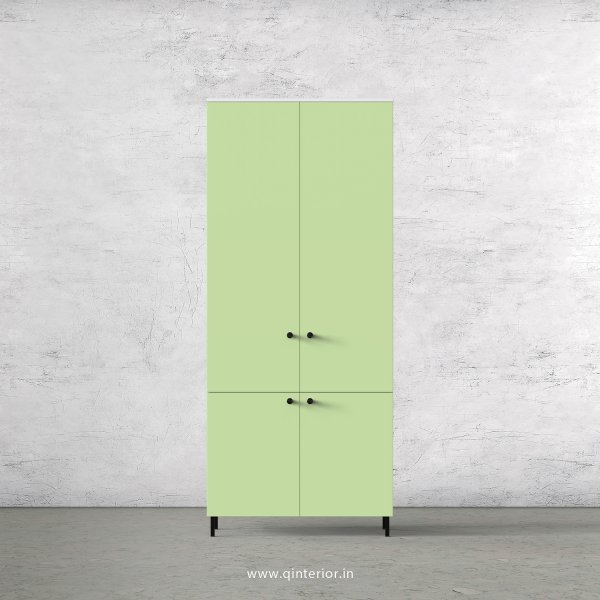 Lambent 2 Door Wardrobe in White and Pairie Green Finish – DWRD007 C83