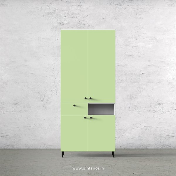 Lambent 2 Door Wardrobe in White and Pairie Green Finish – DWRD017 C83