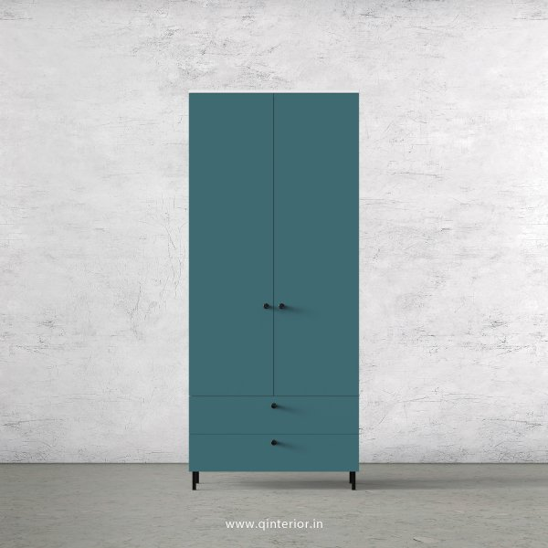 Lambent 2 Door Wardrobe in White and Shore Finish – DWRD026 C12