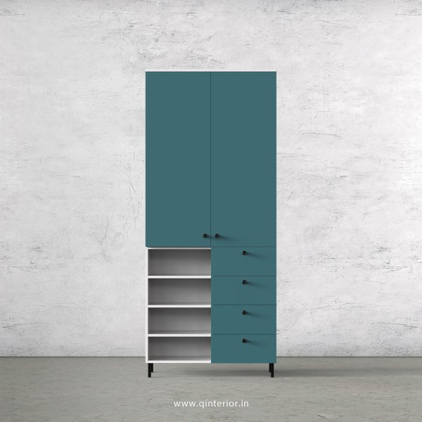 Lambent 2 Door Wardrobe in White and Shore Finish – DWRD046 C12