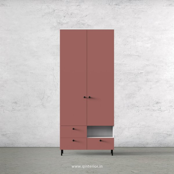 Lambent 2 Door Wardrobe in White and Blush Finish – DWRD004 C17